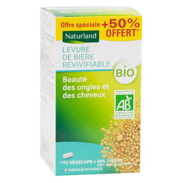 Naturland Levure de Bière Revivifiable Bio 75 Végécaps + 38 Offertes