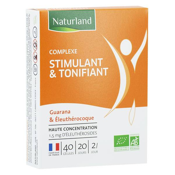 Naturland Complexe Stimulant & Tonifiant Bio 40 gélules