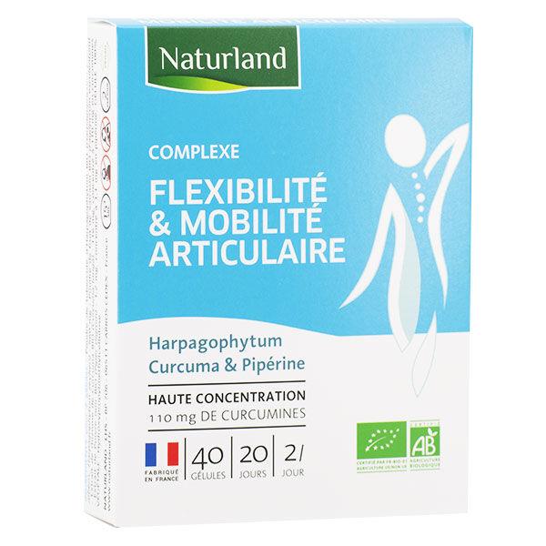 Naturland Complexe Fléxibilité & Mobilité Articulaire Bio 40 gélules