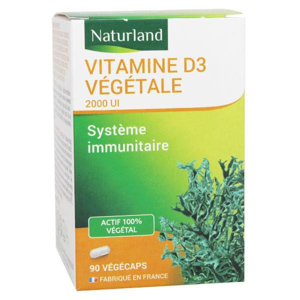 Naturland Vitamine D3 Végétale 90 gélules