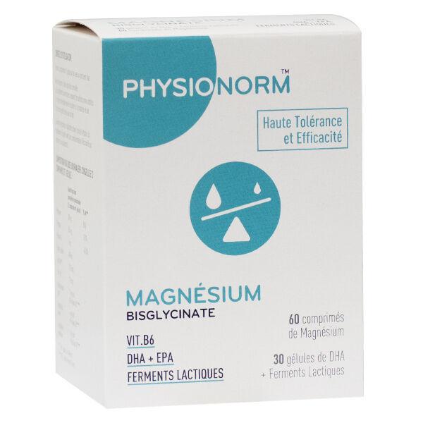 Immubio Physionorm Magnésium Bisglycinate 30 Gélules + 60 Comprimés