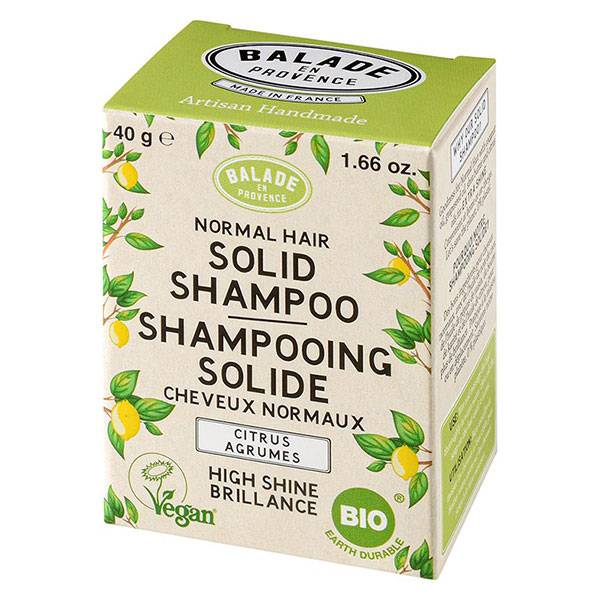 Balade en Provence Shampooing Solide Cheveux Normaux Agrumes Bio 40g