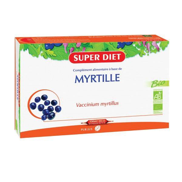 Super Diet Myrtille Bio 20 ampoules de 15ml