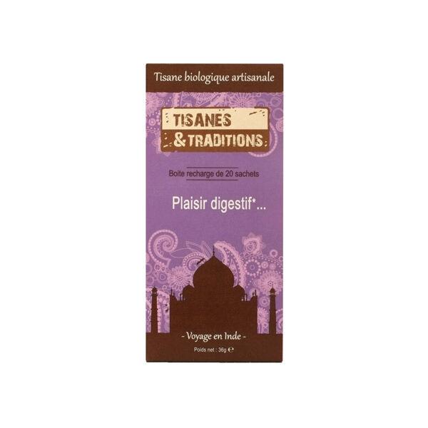 Tisanes & Traditions Plaisir Digestif Boite Recharge 20 sachets