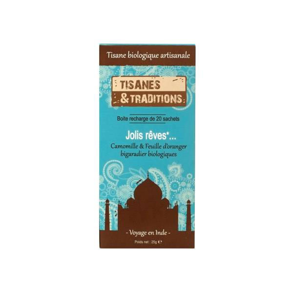 Tisanes & Traditions Jolis Rêves Boite Recharge 20 Sachets