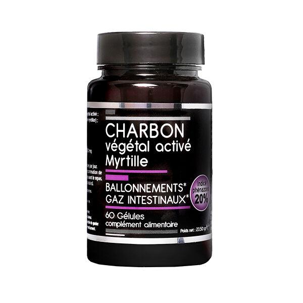 Nutrivie Charbon Végétal Activé Myrtille Végan 60 gélules