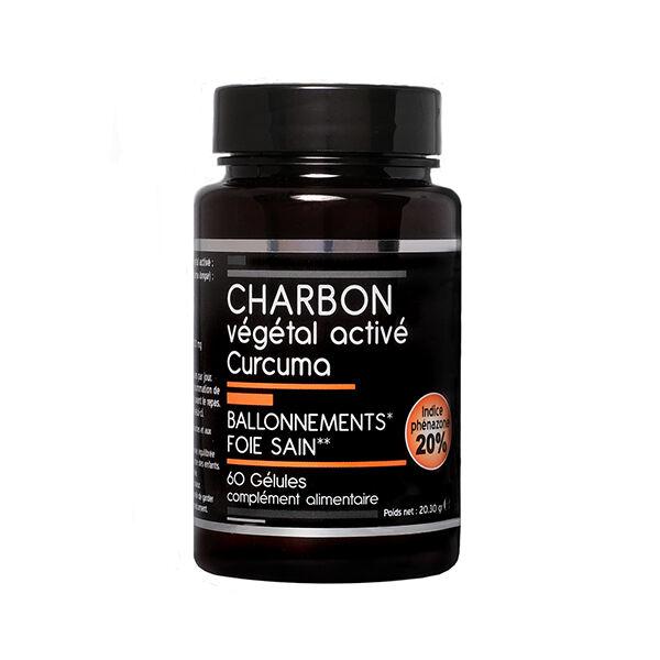 Nutrivie Charbon Végétal Activé Curcuma Végan 60 gélules