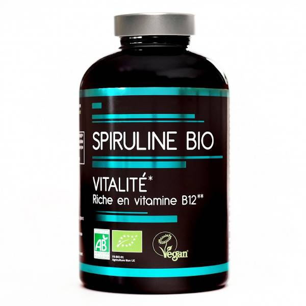Nutrivie Spiruline Bio Vitalité 500 comprimés