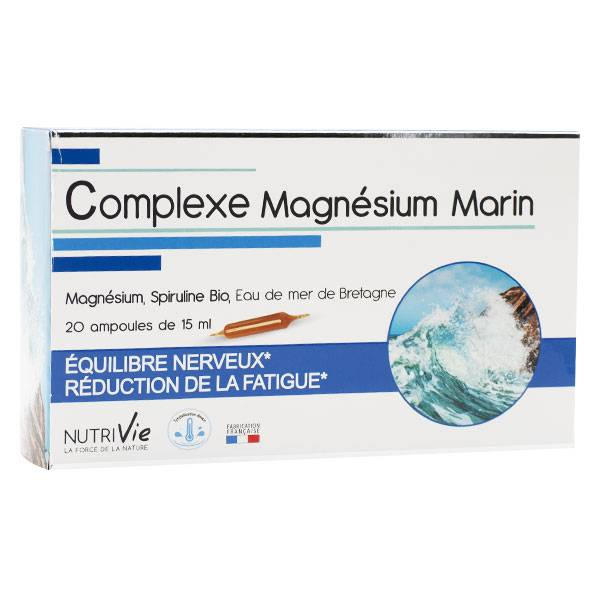 Nutrivie Complexe Magnésium Marin 20 ampoules