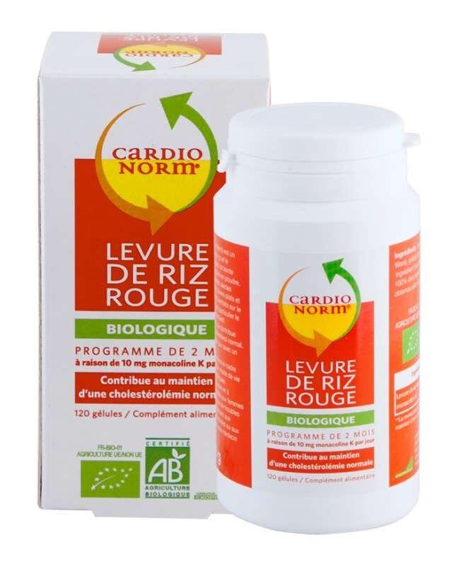 Exopharm Cardionorm Levure de Riz Rouge Bio 120 gélules