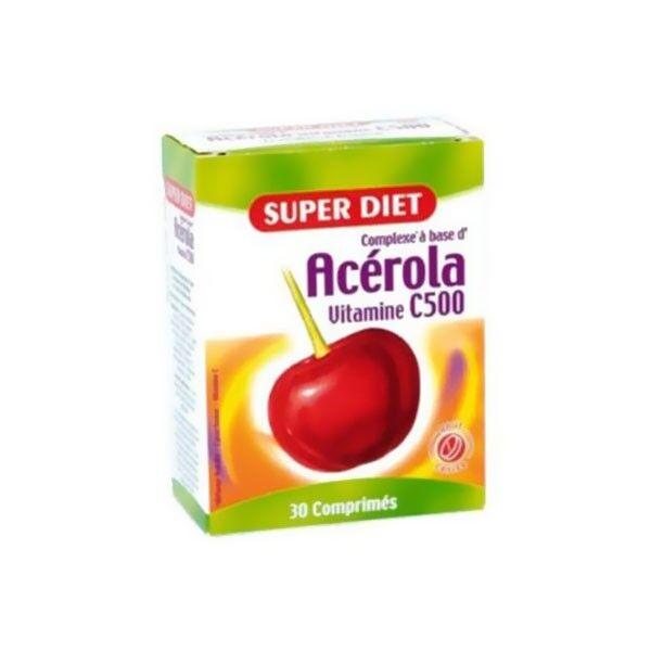Superdiet Acérola Vitamine C - 30 comprimés sécables à croquer