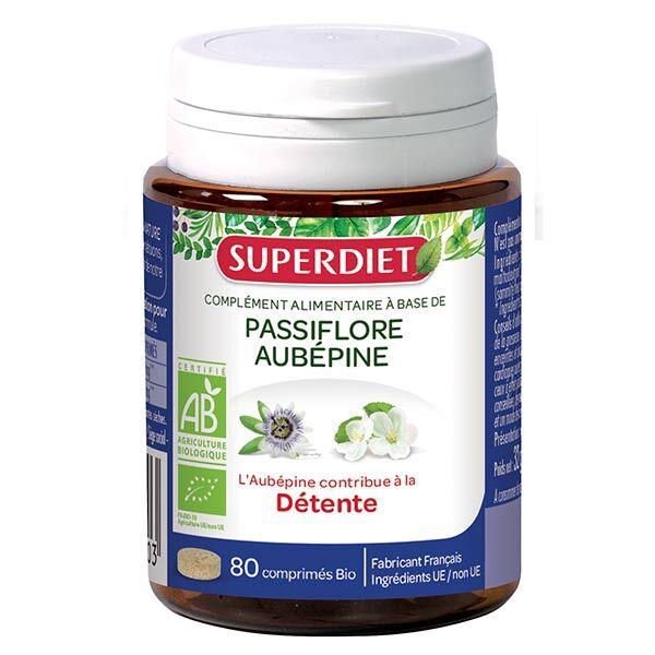 Superdiet Passiflore Aubepine Bio 80 comprimés