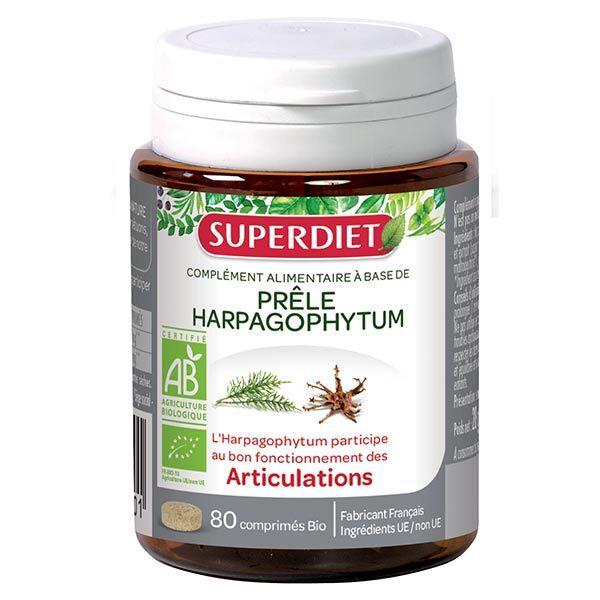 Superdiet Prêle Harpagophytum Bio 80 comprimés