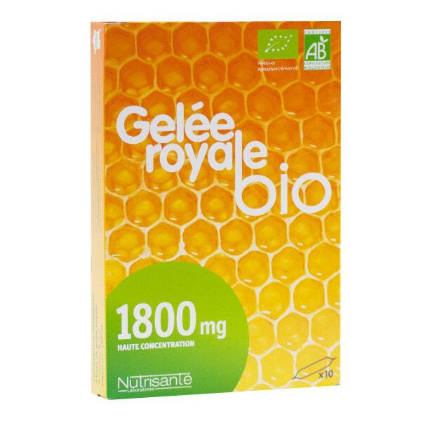 Nutrisanté Gelée Royale Bio 1800mg 10 ampoules
