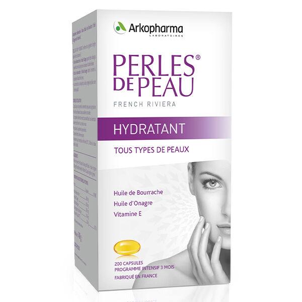 Arkopharma Perles de Peau Hydratant Huile Bourrache & Onagre 200 capsules