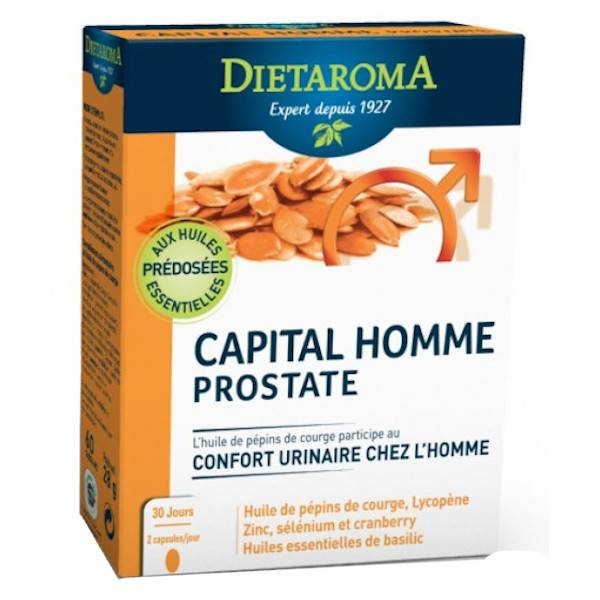 Dietaroma Capital Homme Prostate 60 capsules d'origine végétale