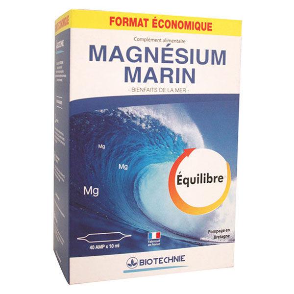 Biotechnie Programme Magnésium Marin 40 ampoules