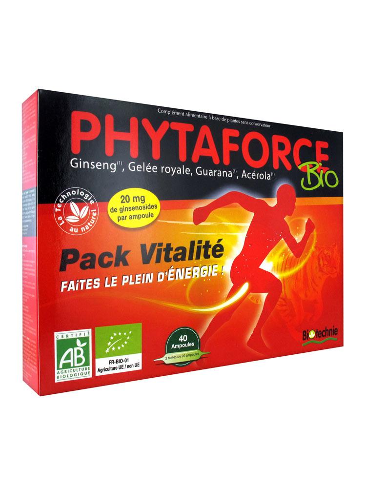 Biotechnie Phytaforce Bio Pack Vitalité 40 ampoules