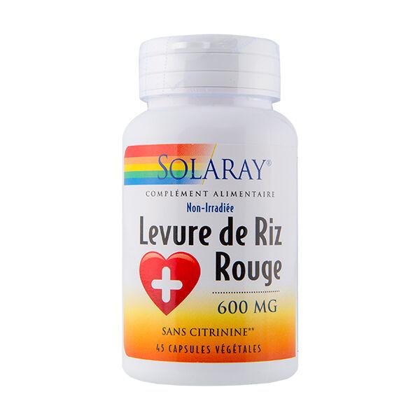 Solaray Levure de Riz Rouge 600mg 45 capsules végétales
