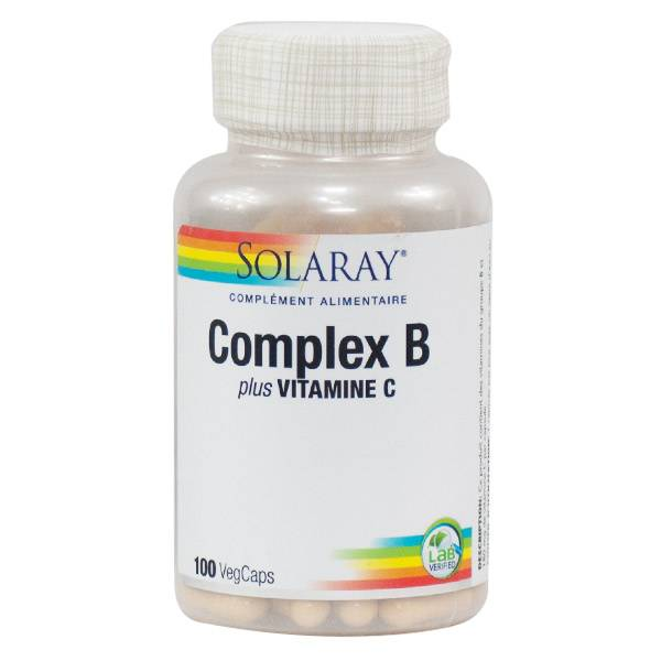Solaray Complex B Plus Vitamine C 100 capsules