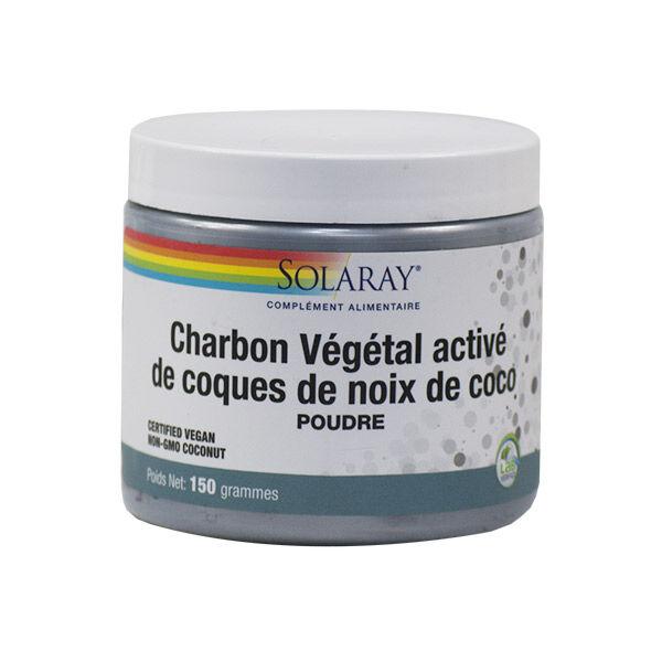 Solaray Charbon Végétal Activé de Coques de Noix de Coco 150g
