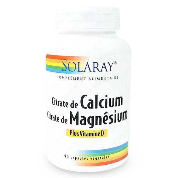 Solaray Calcium + Magnésium + Vitamine D 90 capsules végétales
