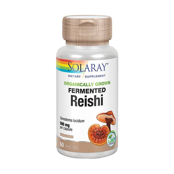 Solaray Reishi Fermenté 500mg 60 capsules végétales