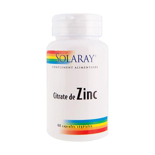 Solaray Citrate de Zinc 15mg 60 capsules végétales