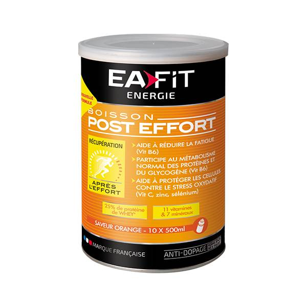 Eafit Boisson Energétique Post Effort Goût Orange 457g
