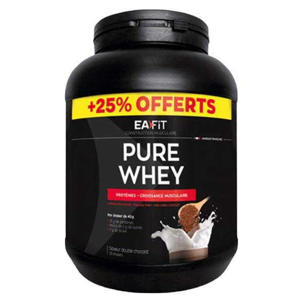 Eafit Pure Whey Double Chocolat 750g + 25% Offerts