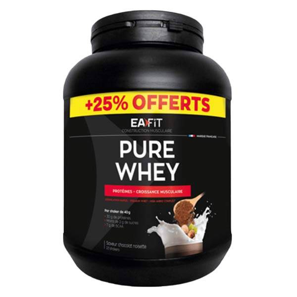 Eafit Pure Whey Chocolat Noisette 750g + 25% Offerts