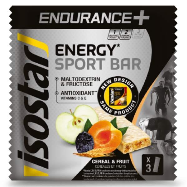 Isostar Endurance + Sport Barres Céréales & Fruits 3 x 40g