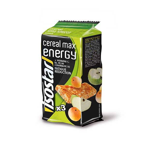 Isostar Cereal Max Energy Pomme Abricot 3 x 55g
