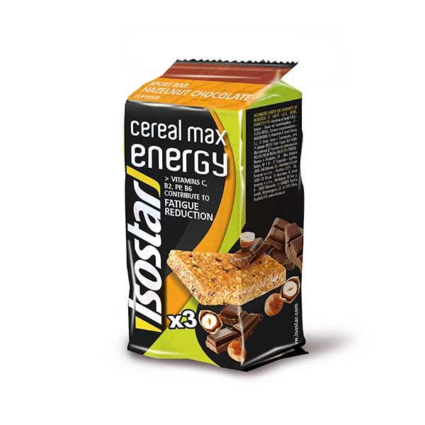 Isostar Cereal Max Energy Noisettes Chocolat 3 x 55g