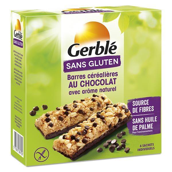 Gerblé Sans Gluten Barres de Céréales Chocolat 6 barres