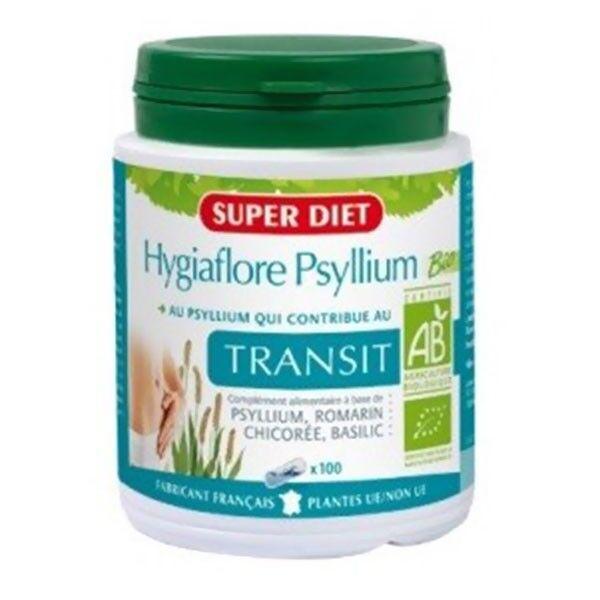 SuperDiet Super Diet Hygiaflore Psyllium Bio - 100 gélules