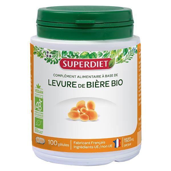 Superdiet Levure de Bière Bio 100 gélules