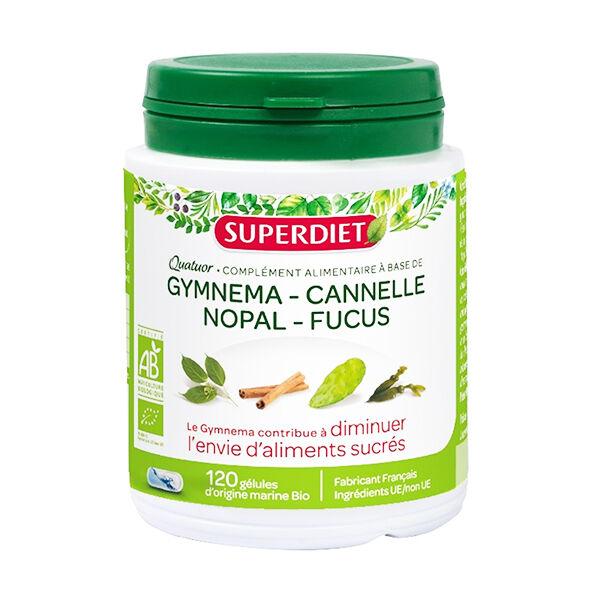 Super Diet Quatuor Gymnema Glycémie Bio 120 gélules