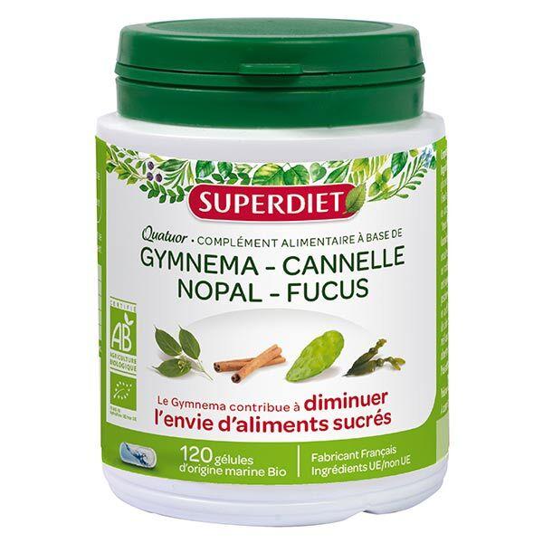 Superdiet Quatuor Gymnema Glycémie Bio 120 gélules