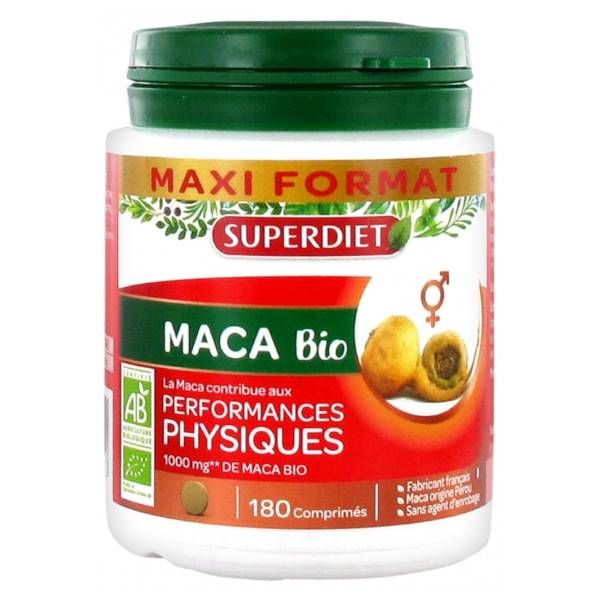 Superdiet Maca Bio 180 comprimés