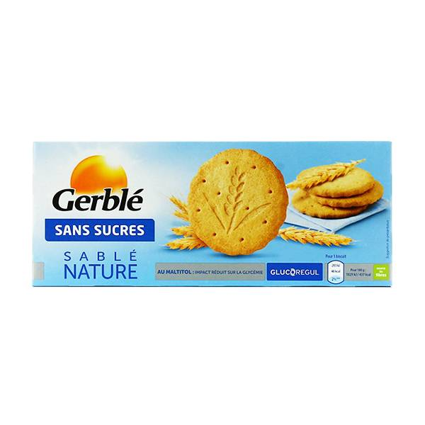 Gerblé Sans Sucres Sablé Nature 132g