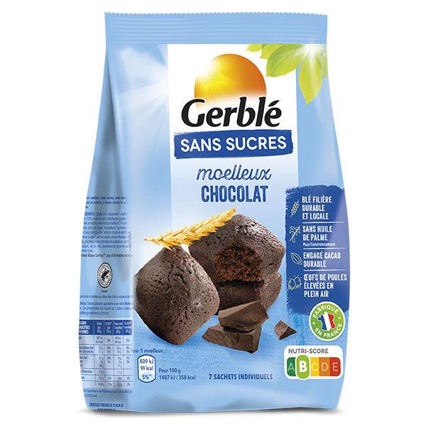Gerblé Sans Sucres Moelleux Tout Chocolat 196g