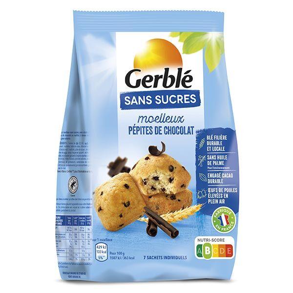 Gerblé Sans Sucres Moelleux Pépites de Chocolat 196g