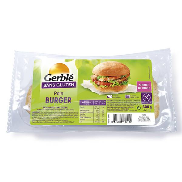 Gerblé Sans Gluten Pain Burger 2 pains