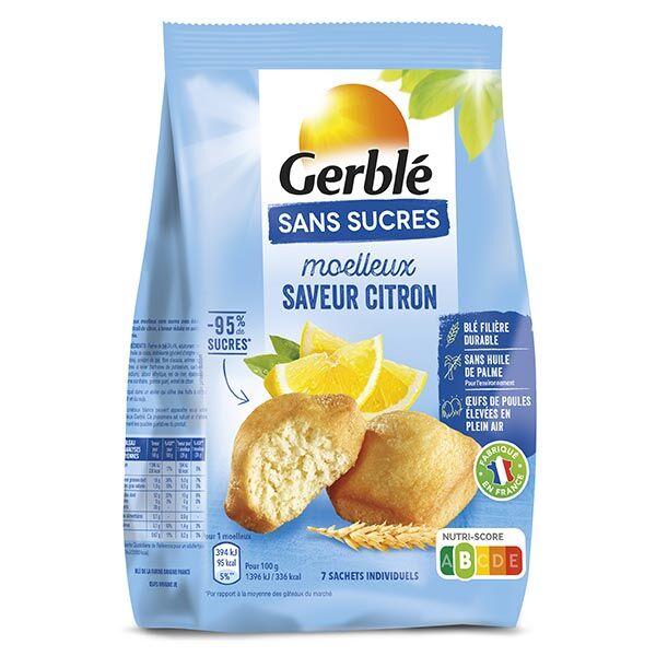 Gerblé Sans Sucres Moelleux Saveur Citron 196g