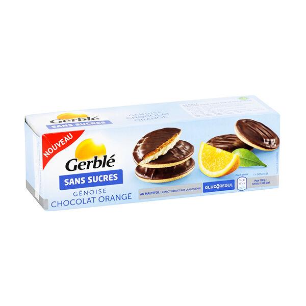 Gerblé Sans Sucres Génoise Chocolat Orange 140g
