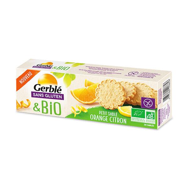 Gerblé sans Gluten Bio Petit Sablé Orange Citron 120g