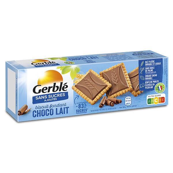Gerblé Sans Sucres Ajoutés Biscuits Chocolat Lait Fondant 126g