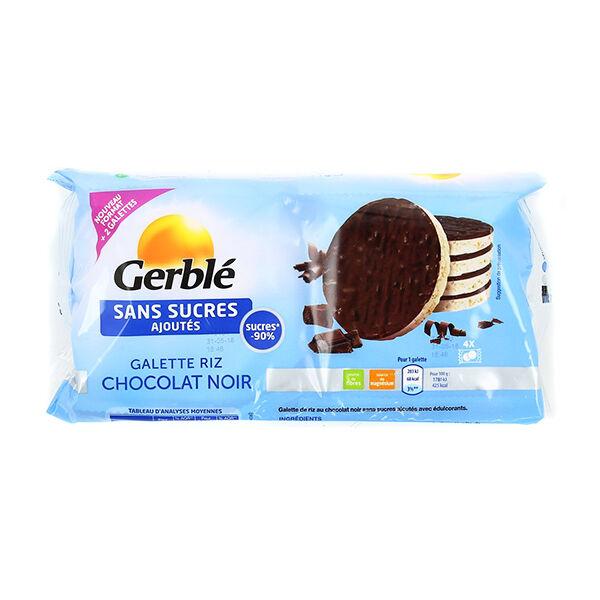 Gerblé Sans Sucres Galette Riz Chocolat Noir 130,4g