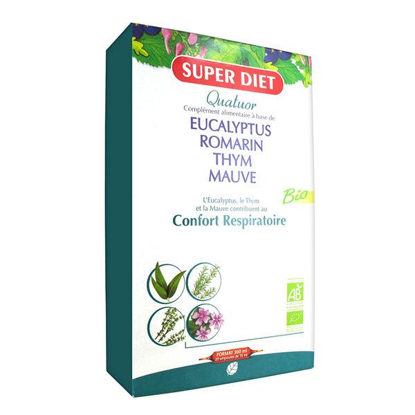 Super Diet Quatuor Confort Respiratoire Bio 20 ampoules